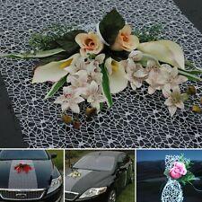 ZARTER SPITZE Auto Schmuck Braut Paar Rose Deko Dekoration hochzeit autoschmuck