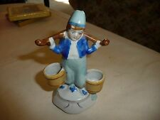 vtg occupied japan porcelain figurine water boy Match Holder ?