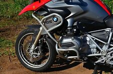 Rockfox Crashbar System - 2013+ BMW R1200GS LC GSW GS Liquid Cooled - Silver