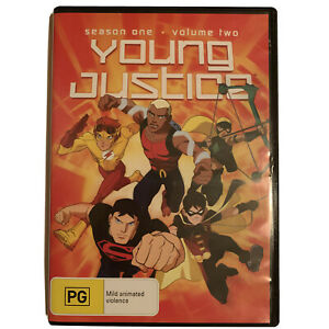 Young Justice Season 1 One Volume 2 Two DVD 2012 DC Comics Series Region 4 R4