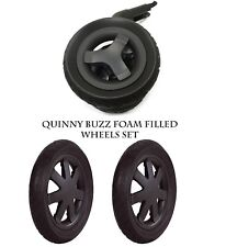 NEW QUINNY BUZZ 3 SET BLACK WHEELS 1X FRONT & 2X BACK REAR WHEEL 100% GENUINE