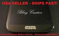 **Bling Home Button Sticker Swarovski Samsung Galaxy s3, s4,s5, s6 Note 2, 3, 4