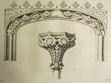 Art 1795 Print Gothic Ornament York Minster ~ Two Heads Over A Stall Chapter-house Architectural & Garden