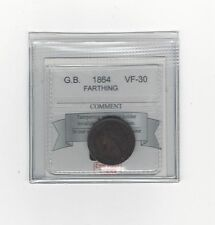 **1864** Great Britain Farthing, Coin Mart Graded**VF-30**