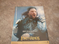 Lord Of The Rings Return of the King Oscar ad with Viggo Mortensen as Aragorn