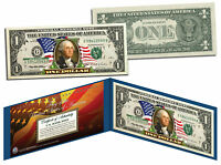 United States of America *Flowing Flag* Legal Tender $1 Bill COLORIZED Currency