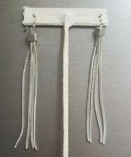 Tommy Hilfiger Silvertone Long Dangle Earrings