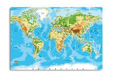Schreibunterlage Weltkarte Relief Schreibtischunterlage 50 x 34cm rutschfest