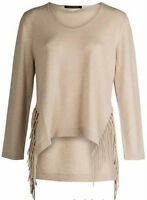 Luisa Cerano Tassel Jumper Beige Size 38 Ladies UK Size 12 Box45 19 G