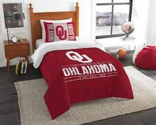 Oklahoma Sooners - 2 Pc TWIN Size Printed Comforter/Sham Set