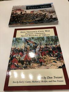 Three civil War Books On Uniforms, Illustrations Paintings