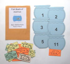 Teacher Made Math Center Learning Resource Game Basic Addition Facts1-5 & 11