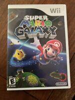 Super Mario Galaxy (Nintendo Wii, 2007) Complete W/ Case + Manual + Game Disc