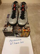 Nike Air Jordan 6 VI reflexiones ** PLATA ** UK10 EU45 ** Súper Rara **
