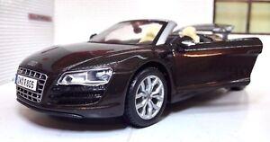 1:24 Audi R8 Marron V10 Spyder 31204 Maisto Diecast LGB Maquette SPORTS Voiture