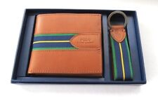 POLO  RALPH  LAUREN  LEATHER WALLET & KEY FOB  GIFT SET BOX
