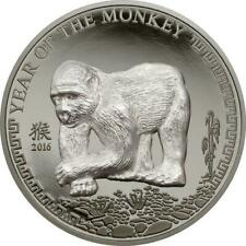 """Mongolia 2016 500 Togrog """"Year of the Monkey"""" 25 g Silver Proof Coin"""