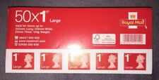 150 x 1st Class Large Letter Royal Mail Postage Stamps Book, Easy Peel and Stick