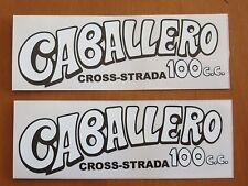 COPPIA ADESIVI SERBATOIO FANTIC CABALLERO 100 CROSS STRADA ANNI '70 - MOTO EPOCA