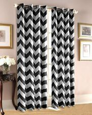 "Zig Zag Insulated 100% Thermal Blackout Window 37"" Wide Grommet Curtain Panel"
