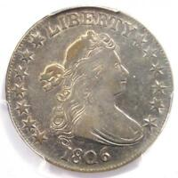 1806 Draped Bust Half Dollar 50C Coin - Certified PCGS XF45 - $2,100 Value!