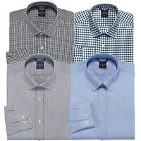 New Dockers Men's Battery Street Trim-Fit Spread-Collar Dress Shirt MSRP $50