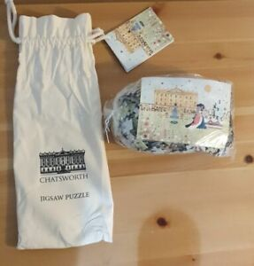 750 Piece Chatsworth House Jigsaw by Lucy Loveheart in Cotton Bag