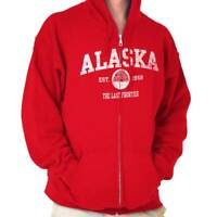 Vintage Alaska Igloo AK State Pride Vacation Adult Zip Hoodie Jacket Sweatshirt