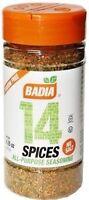 Badia 14 Spices All Purpose Seasoning No Salt Gluten Free Kosher  4.25 oz