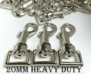 20mm Trigger Swivel Heavy Duty Metal Clips for Dog Lead Horse Rug Snap Hook