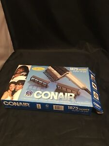 Conair Style 1875 Watt Styler Pro Cord 3 Attachments Size Model SD4S Hair Dryer
