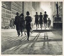 Shadow Dance  :  Martin Lewis :  Drypoint etching  :  Fine Art Print  NYC