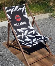 Bacardi Rum Klappstuhl Strandstuhl Holzstuhl Liegestuhl Sommer Camping NEU OVP