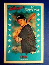 1982 Kelloggs 3D Baseball  Carlton Fisk  Chicago White Sox / Hall Of Fame  #25