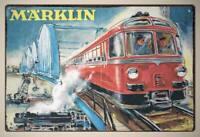 MARKLIN - RARE Metal Vintage Style Retro Tin Sign | Poster railways modeltrains