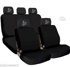 New 4X Car Live Laugh Love Headrest Black Cloth Car Truck Seat Covers For VW