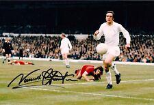 """Norman Hunter Leeds United firmata COLORI 9"""" x 6"""" fotografia V Liverpool"""