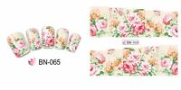 Nail Art Water Decals Stickers Transfers Wraps Shabby Chic Flowers Floral BN65