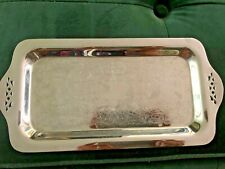 Vintage Krome-Kraft Farber Bros Pierced Chrome Tray For Sugar Creamer Set