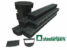"Standartpark - 4""inch trench drain - 5 pack with catch basin - Spark"