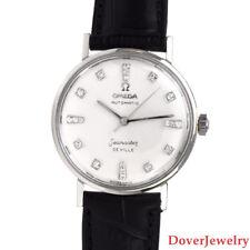Omega Seamaster Deville Vintage Diamond Automatic 14K Gold Men's Watch NR