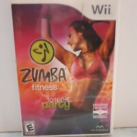 Zumba Fitness: Join The Party (Nintendo Wii, 2010) Game Workout Complete VG  N