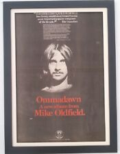 MIKE OLDFIELD*Ommadawn*1975*ORIGINAL*Giant*POSTER*AD*FRAMED*FAST WORLD SHIP