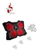 Laptop Cooling Pad - Quiet Rapid Cooling Action - Ergonomic Ventilated Support