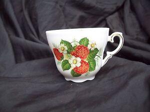 Bavaria TEACUP~Schumann Arzberg Germany~Fine China~ Strawberries.