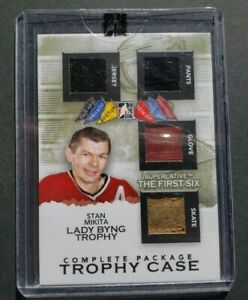 2013 ITG Superlative First Six Trophy Case Complete Package Stan Mikita  /9