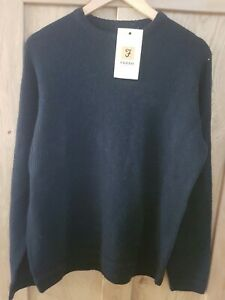 MENS CHUNKY WOOL MIX FARAH JUMPER IN NAVY RRP £59 SIZE M ONLY £29.99