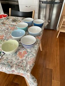 SET OF SEVEN BOWLS BY COUNTRY ROAD
