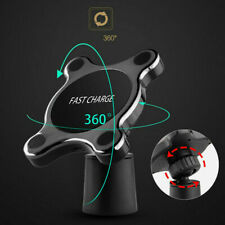 Qi Wireless Car Fast Charger Phone Holder Stand For iPhone X XS Samsung S9+ S10