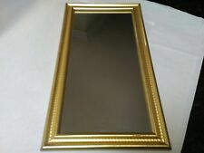 Contemporary Gold Wall Hanging Mirror ~ Nice Piece! Composite?